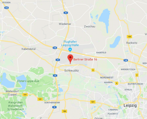 Vermietung von möblierten Apartments mit Balkon am Flughafen Halle - Leipzig